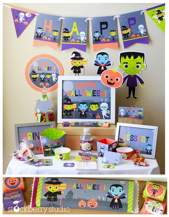 halloween party decorations halloween birthday decorations kids halloween party supplies halloween party printables - Kids Halloween Party Decorations