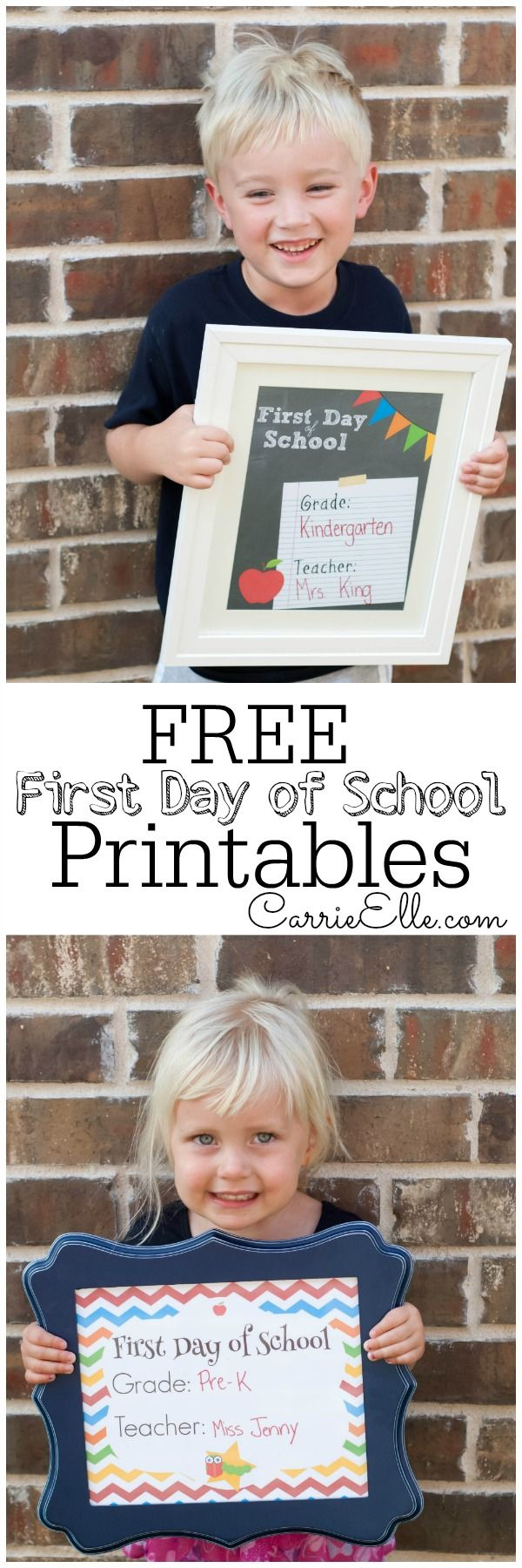 Free first day of school printables! #firstdayofschoolsign