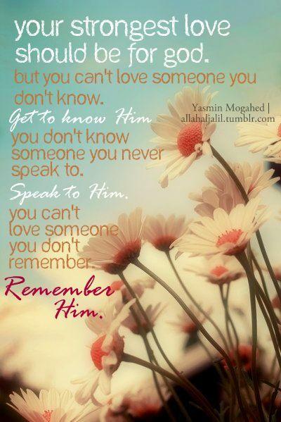 Remember Allah often..