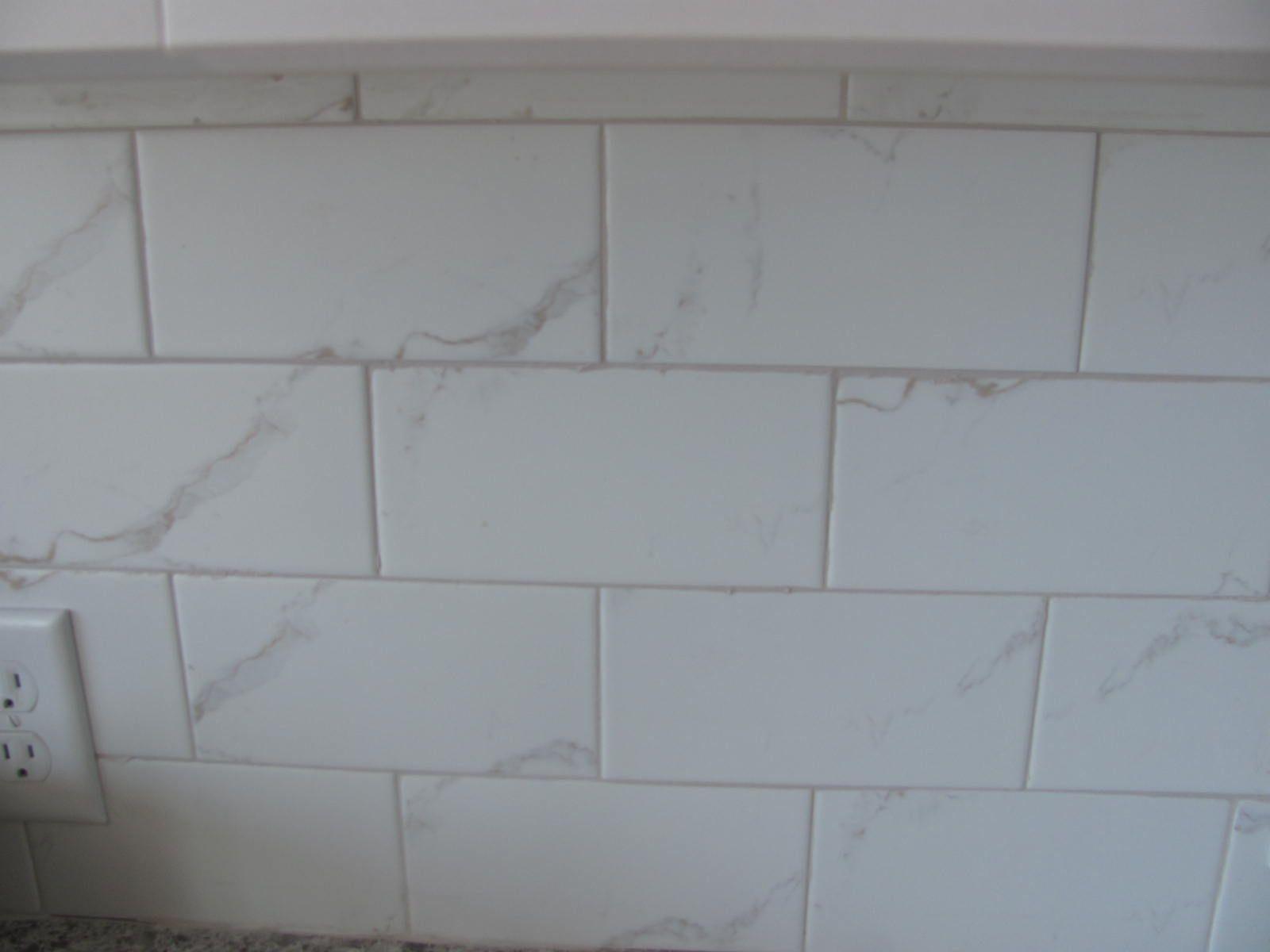 Ceramic 4x8 Subway Tile That Mimics Marble Shower Tile Tile