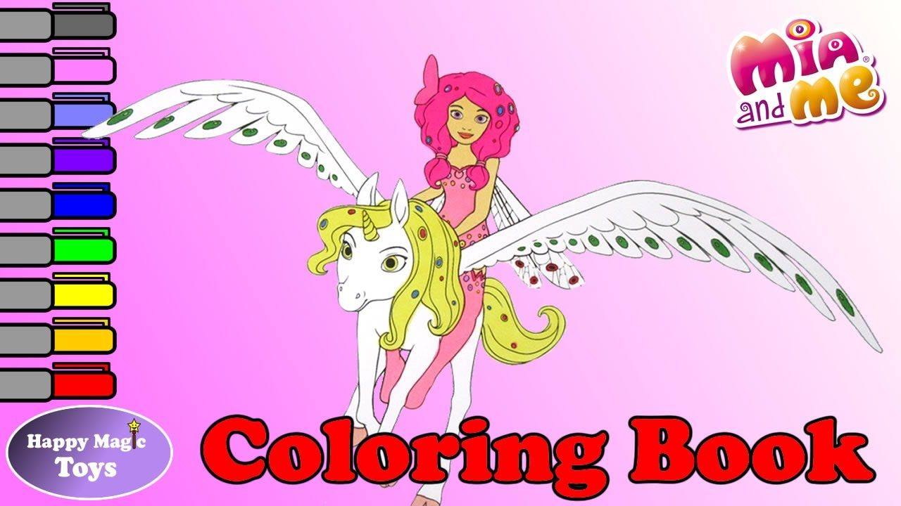 Mia and me coloring book mia riding onchao happy magic toys