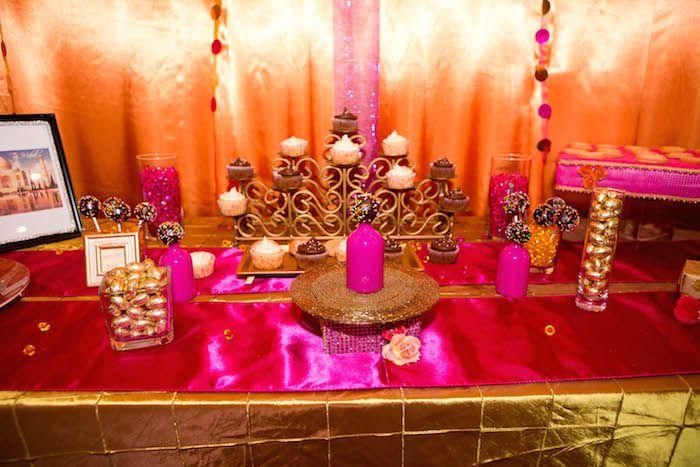 Superior Bollywood Theme Party Decorations Ideas Part - 5: Royal Bollywood Themed 18th Birthday Party Via Karau0027s Party Ideas |  KarasPartyIdeas.com #royalbollywoodparty