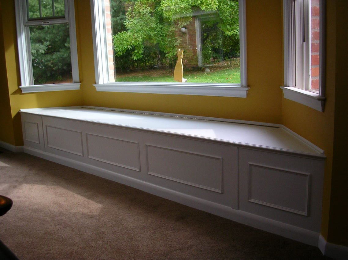 Kitchen window without sill  l desk minimalist white wooden bay window installation long good