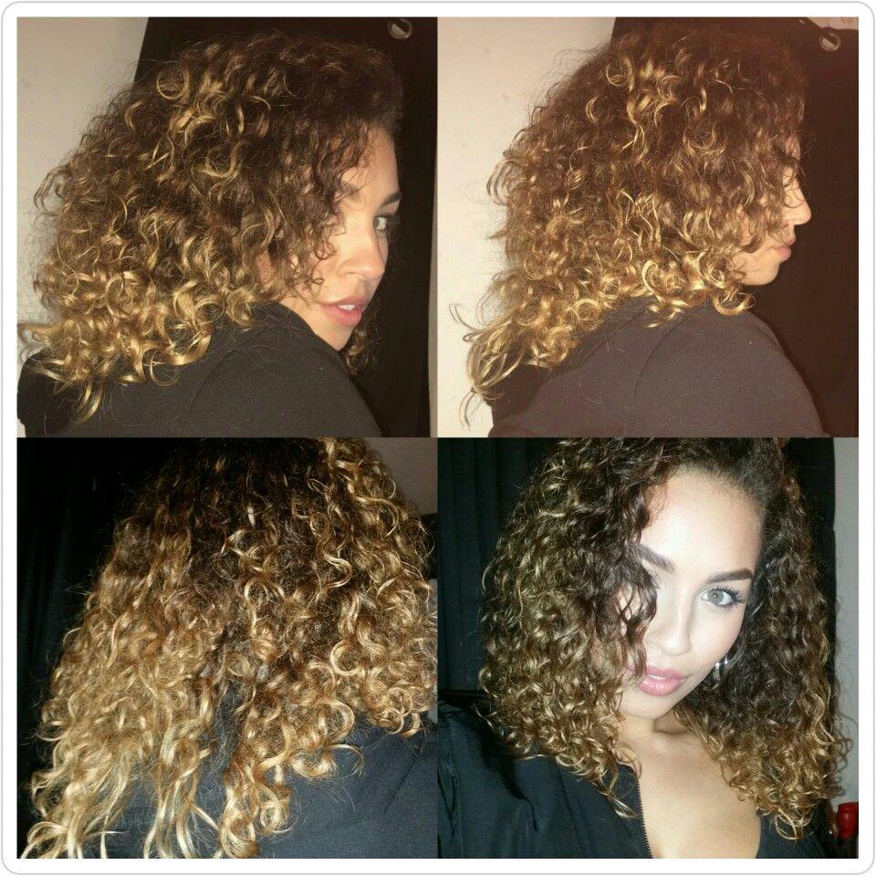 Curly Natural Hair Mixed Race Curls Golden Balayage