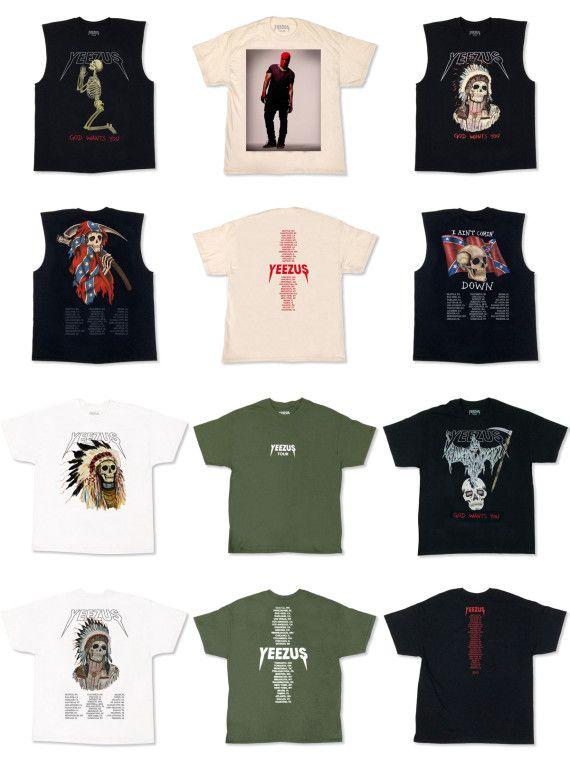 Kanye West Yeezus Tour Merchandise Available Online Kanye West Yeezus Yeezus Rap Shirt