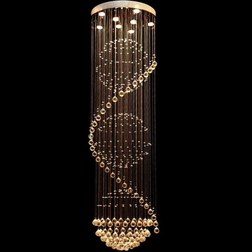 Modern crystal ceiling lamp crystal lustres de sala light fixture modern crystal ceiling lamp crystal lustres de sala light fixture long ceiling lighting with 7 gu10 arubaitofo Gallery