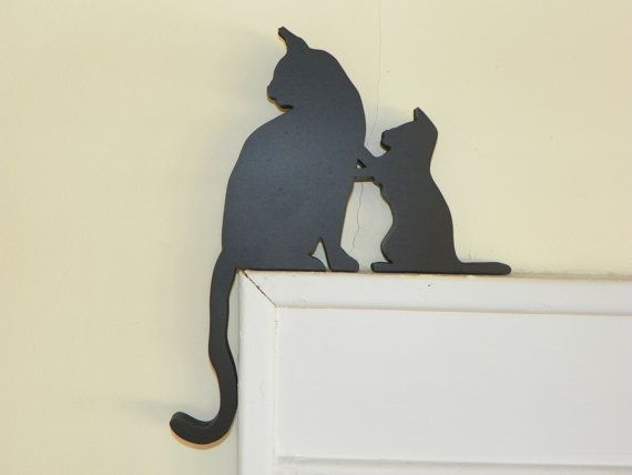 Mom and Kitty Door & Window Topper | Pinterest | Marco de puerta ...