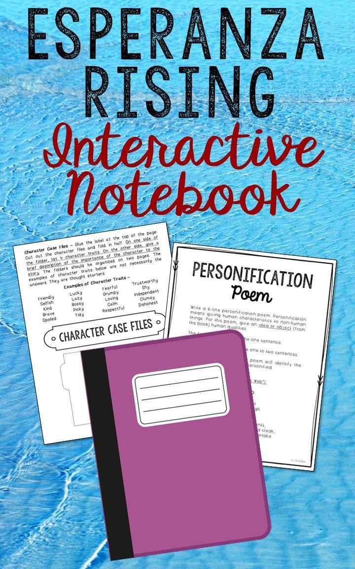 worksheet Esperanza Rising Vocabulary Worksheets esperanza rising interactive notebook novel unit study activities by pam munoz ryan low prep and stress free notebook