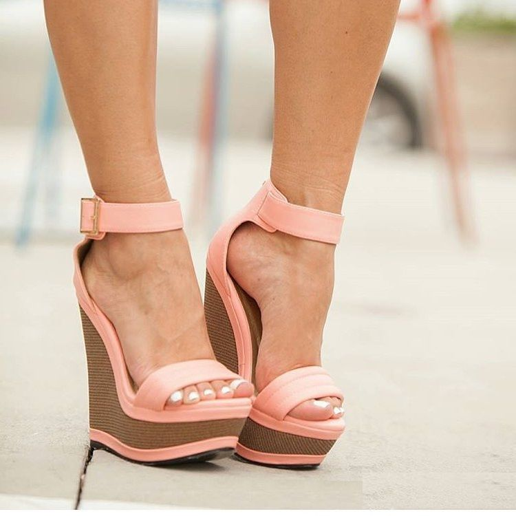 "ideservenewshoesblog  ""Lola - Pink Wedges by Simply UBU Shoes "" In love  with… 9b3b404b70c"