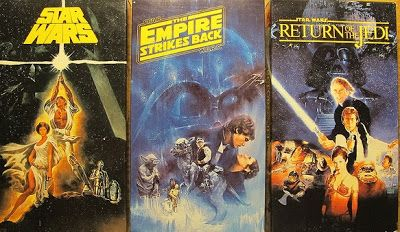Old Star Wars vhs covers