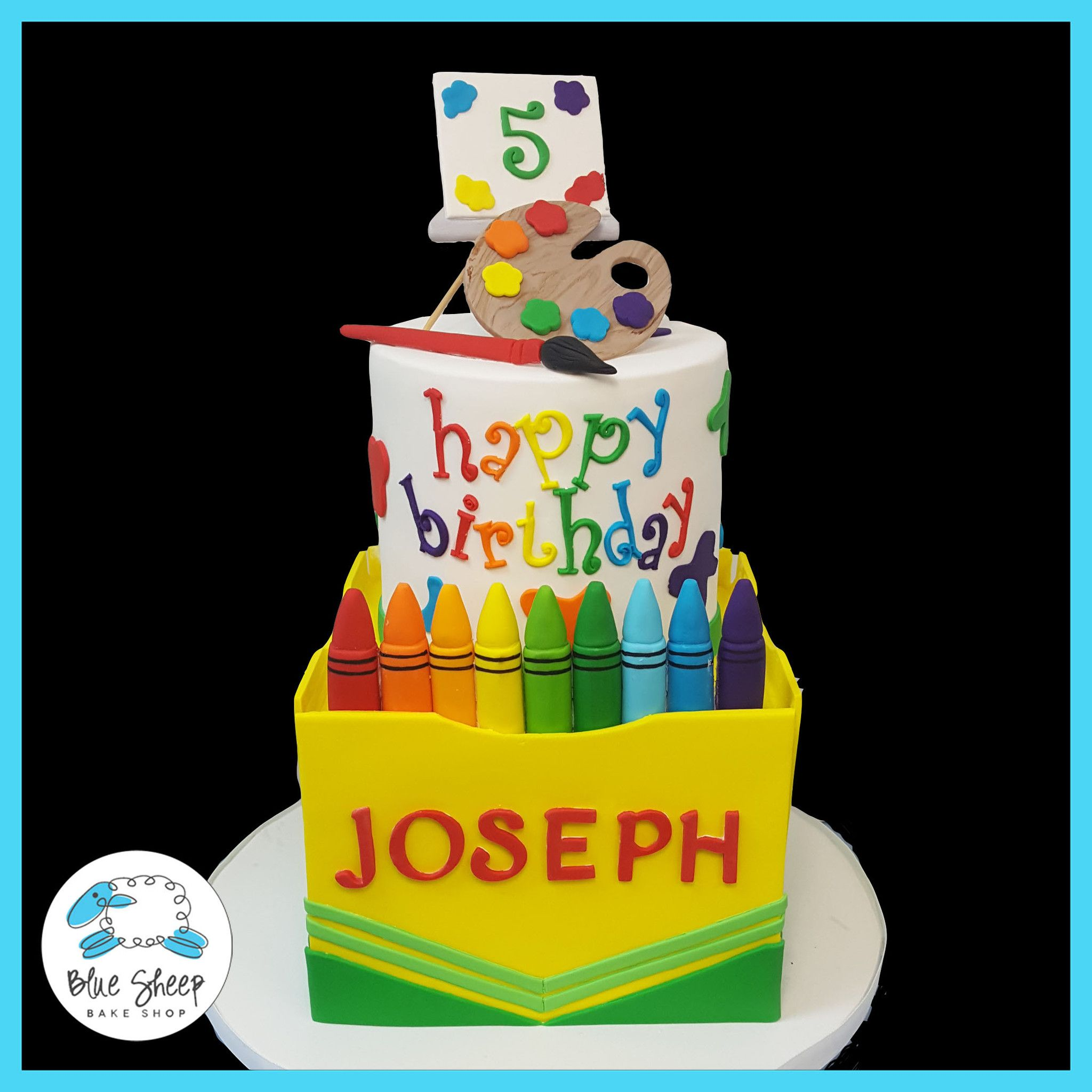Excellent Crayon Birthday Cake Nj With Images Crayon Birthday Parties Funny Birthday Cards Online Elaedamsfinfo