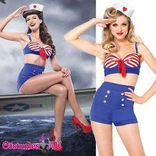 Ladies Leg Avenue On Deck Darling Sailor Costume Rockabilly Pin Up Fancy Dress  sc 1 st  Pinterest & Ladies Leg Avenue On Deck Darling Sailor Costume Rockabilly Pin Up ...