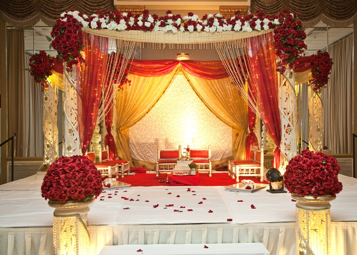 Wedding decorations red  indian wedding lighting decorations  Google Search  Wedding