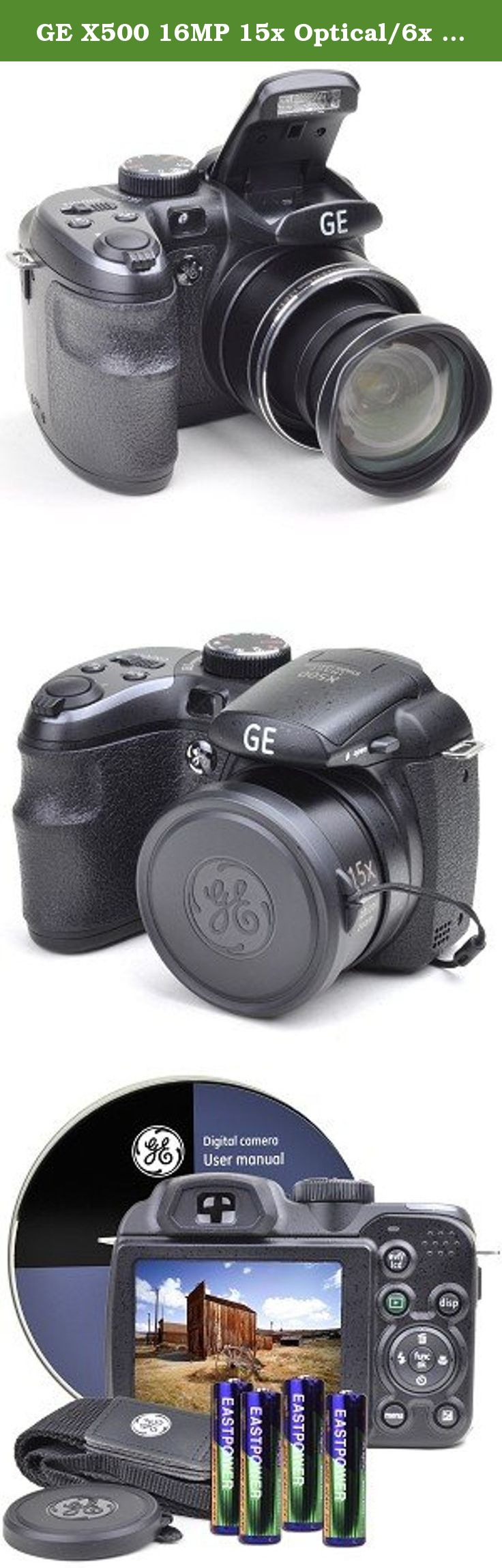 GE X500 16MP 15x Optical/6x Digital Zoom HD Camera Black [Camera].