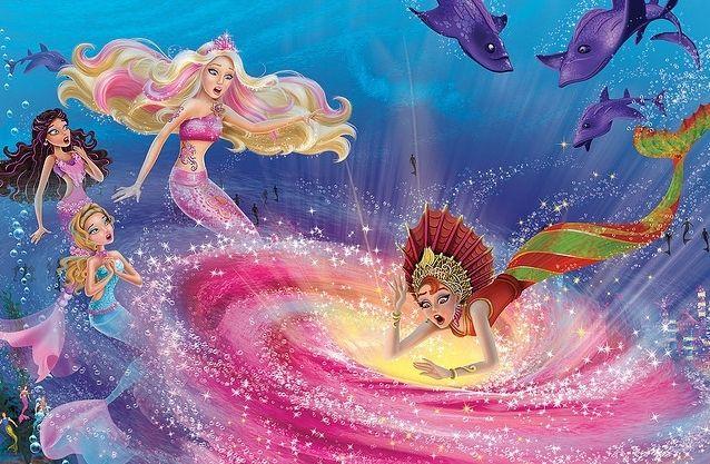 Mermaid Tale With Images Barbie Cartoon Barbie Mermaid Barbie