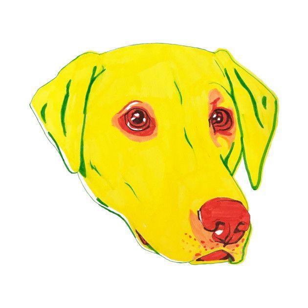 labrador #labradorretriever #yellowlab #yellowlabrador #art ...