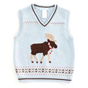 Janie & Jack - Moose Fair Isle Sweater Vest (Level 1, South ...