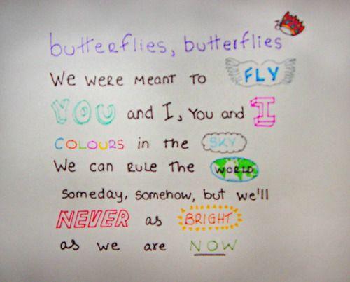 Butterflies, butterflies...