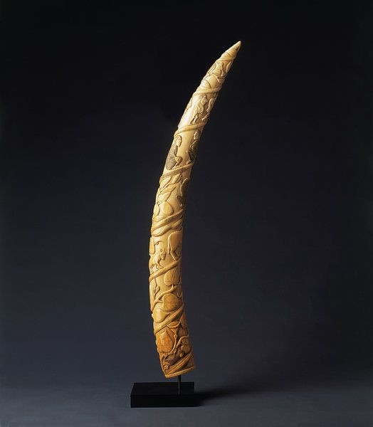 Finch & Co - A Rare and Superbly Carved Loango Ivory Tusk from the Kongo or Villi Peoples , Loango Coast , Angola