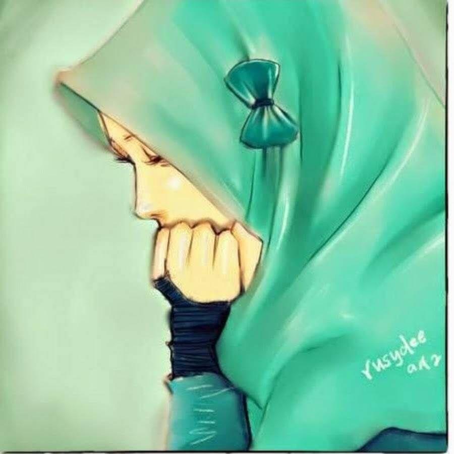 Wallpaper Kartun Muslimah Berjilbab