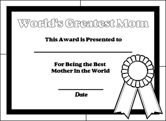 printable certificates for moms printable certificates