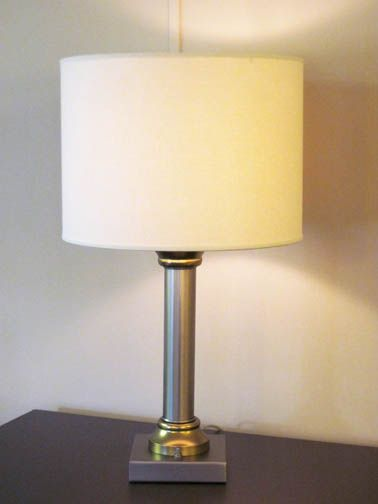 Thanks To Renaissance Contract Lighting Furnishings Inc For Donating This Nightstand Lamp In Mineral Bronze Powder Coat Nightstand Lamp Lamp Linen Shades