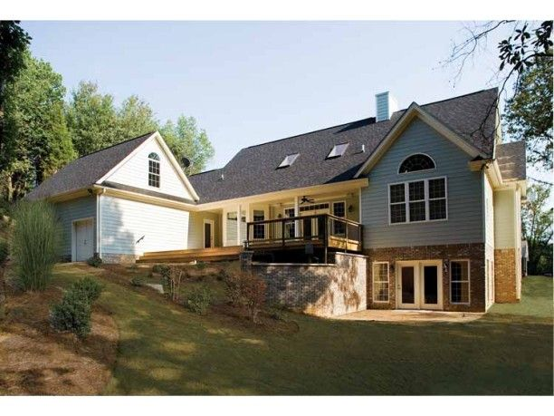 i like the walkout basement but it still have a back patio deck rh pinterest com Ranch Home Plans with Walkout Basement Country with Walkout Basement House Plans by Don Gardener