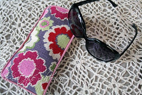 a needlepoint sunglass case (a project from Cath Kidston's book, Stitch) I made in 2011