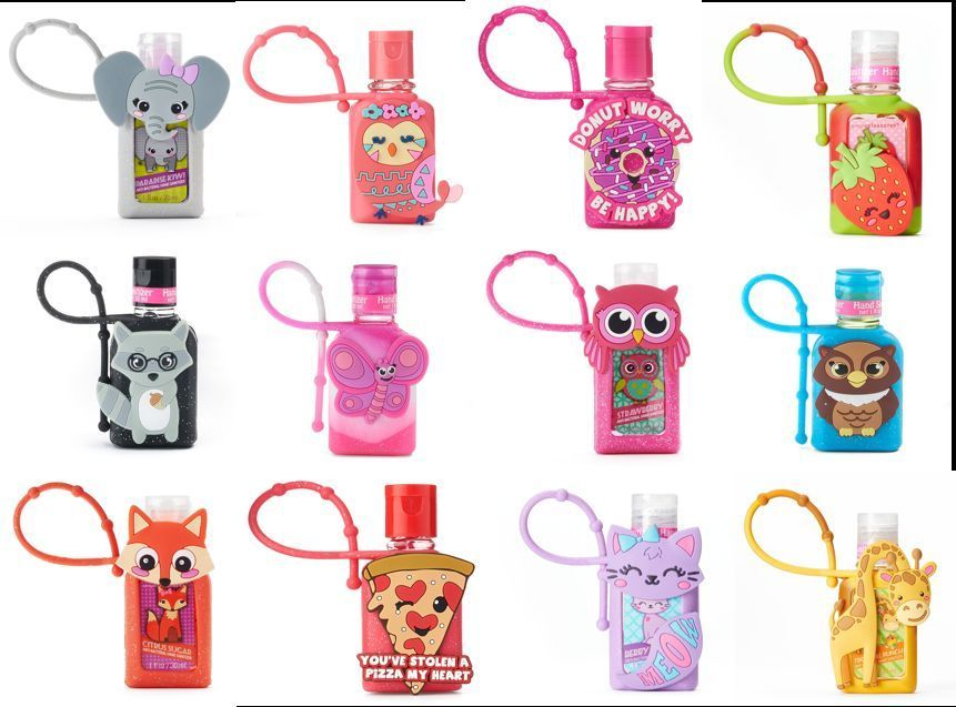 New Pick 3 Free Ship Simple Pleasures Hand Sanitizer Cute Holder