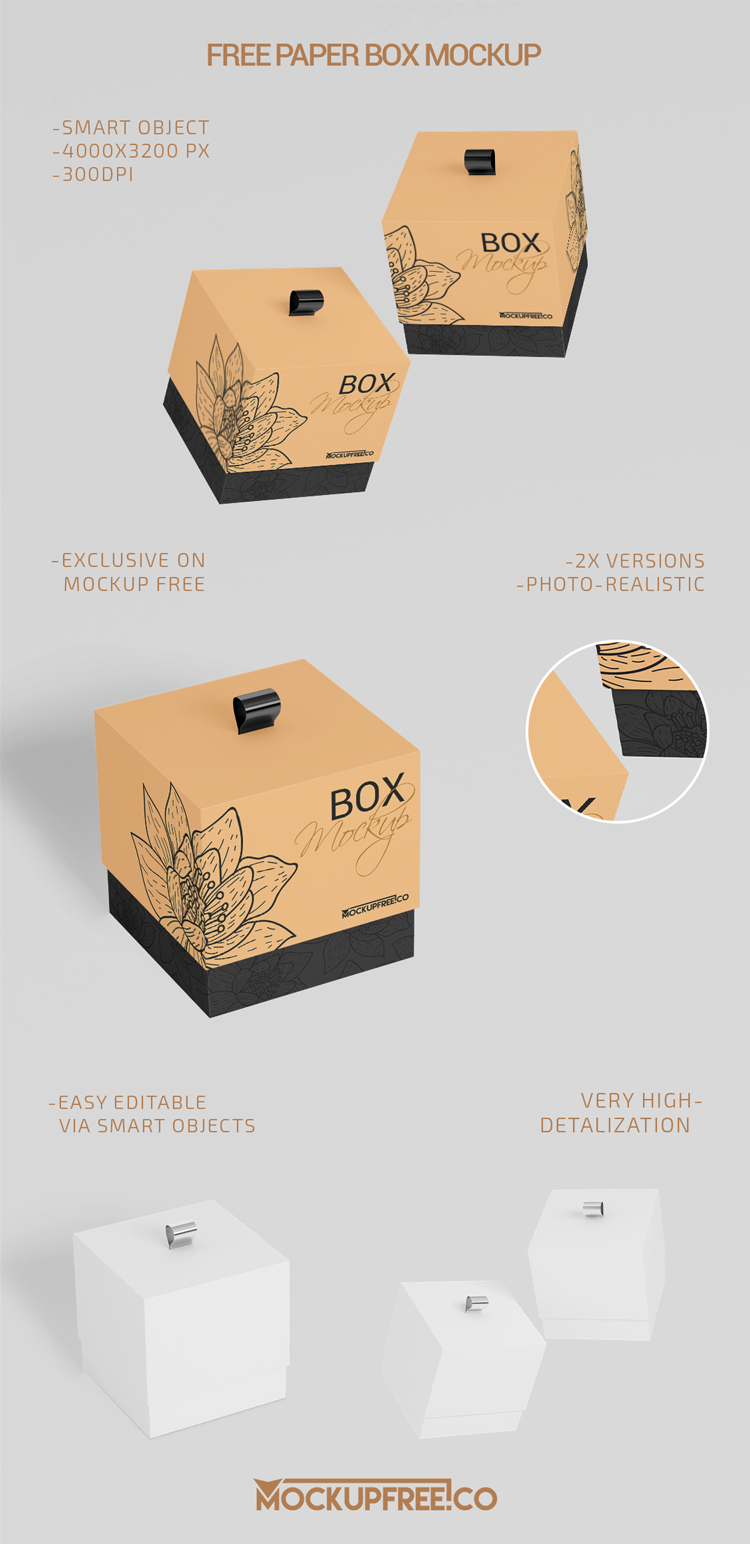 Download Paper Box 2 Free Psd Mockups Download Mockup Free Psd Mockup Free Psd Download Box Mockup