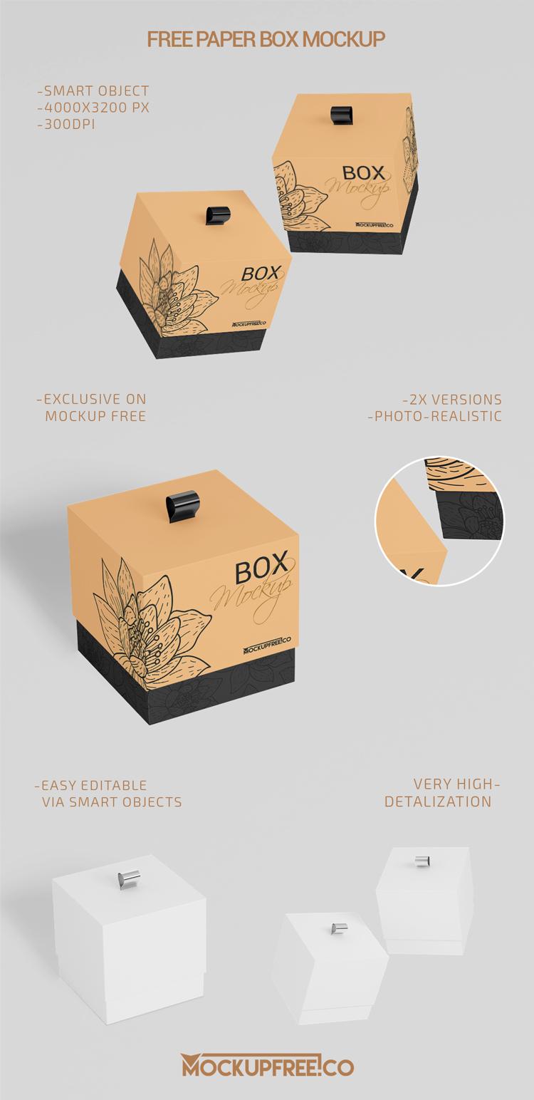 Download Paper Box 2 Free Psd Mockups Download Mockup Free Psd Mockup Free Psd Download Box Mockup