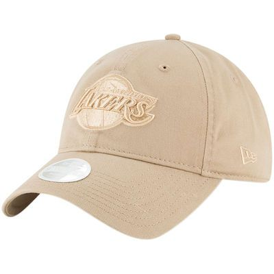 purchase cheap 38b40 ef0f8 Women s New Era Tan Los Angeles Lakers Core Classic 9TWENTY Adjustable Hat