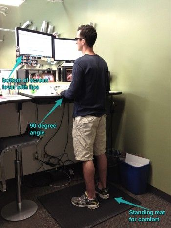 Standing Work Station Benefits Joint Health Desk Work