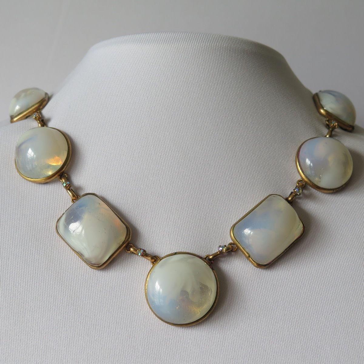 A Haute Couture Gripoix Glass Necklace Vintage Haute Couture