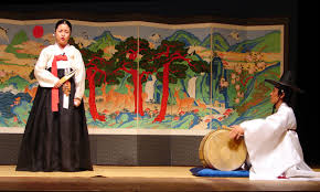 week 1 South Korean culture : Pansori(recite a dramatic song)=history of korean music.
