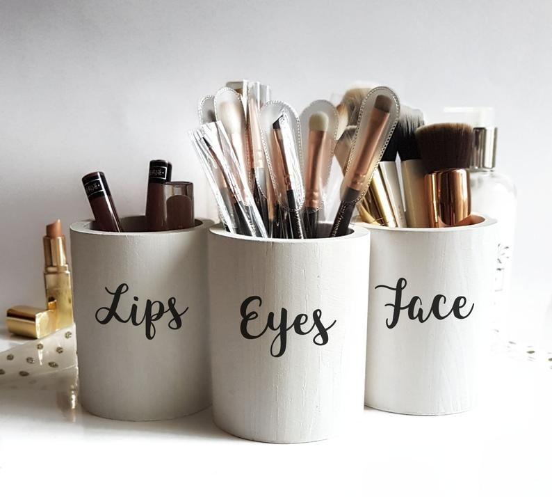 Photo of Makeup Brush Holder,makeup brush storage,makeup organize,makeup storage,makeup brush organizer,Makeup Brush Cup,Makeup Brush Jar,vanity