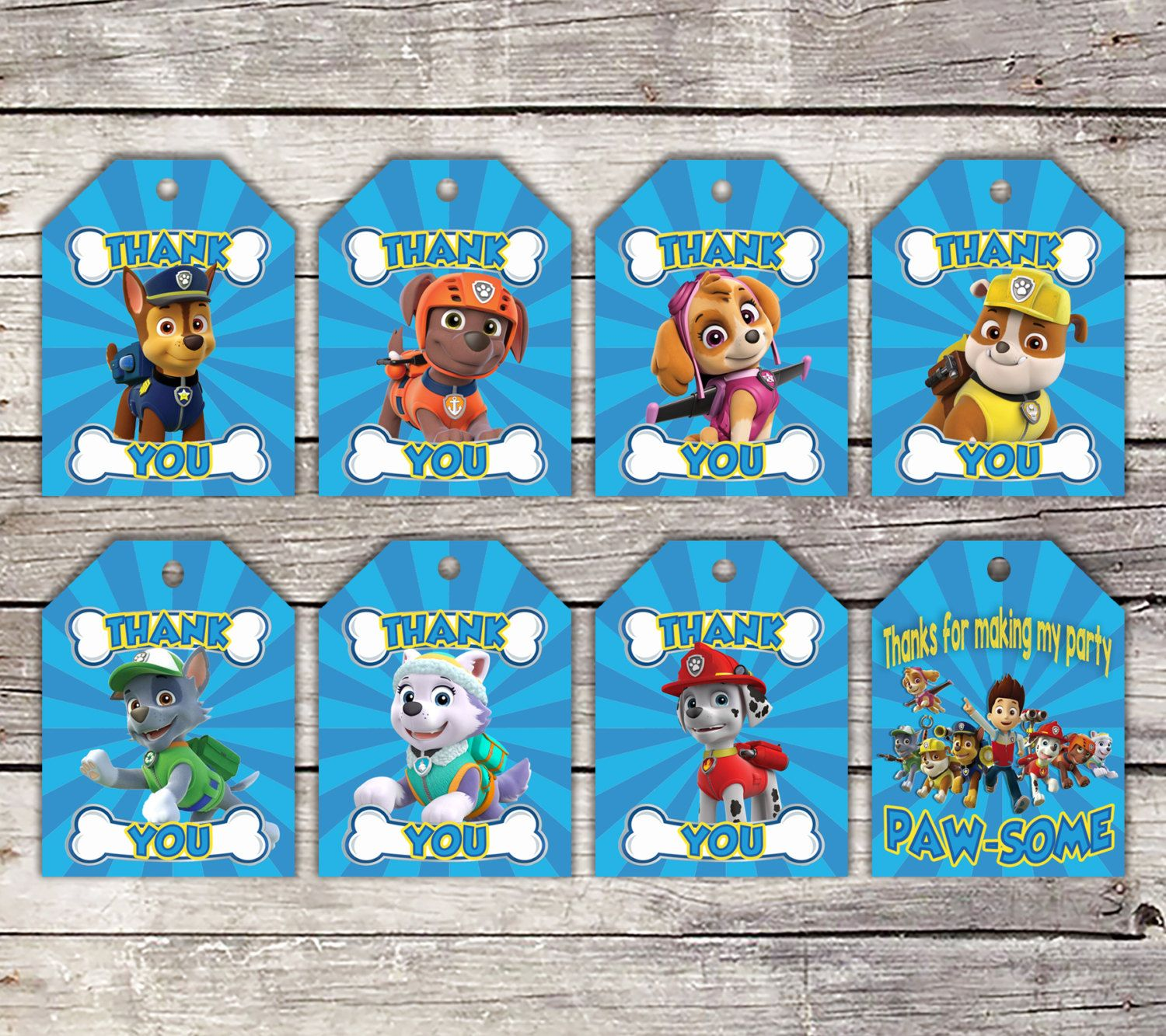 graphic about Paw Patrol Printable Decorations named Paw Patrol, Paw Patrol Prefer Tags, Paw Patrol Celebration, Paw