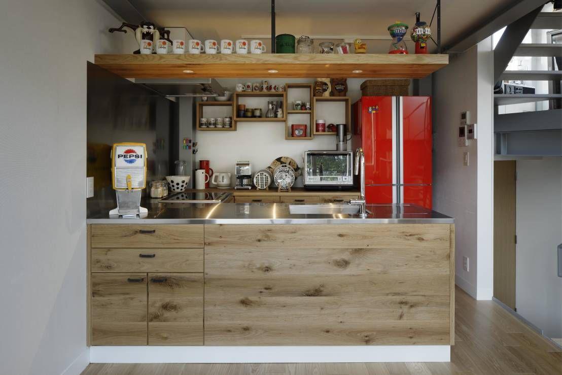 空間に合わせた色選び Homify Projeto Da Cozinha Industrial Designs De Cozinha Casas De Arquitetura Moderna
