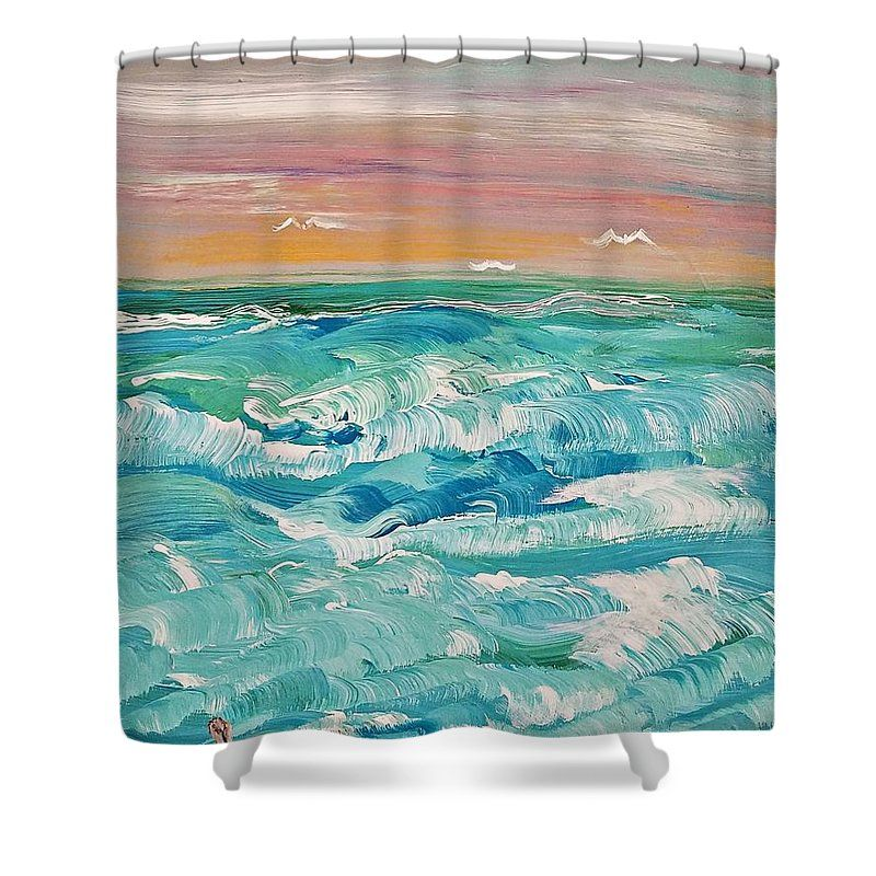 Shower Curtain Sunset Beach Curtains Artwork Decor