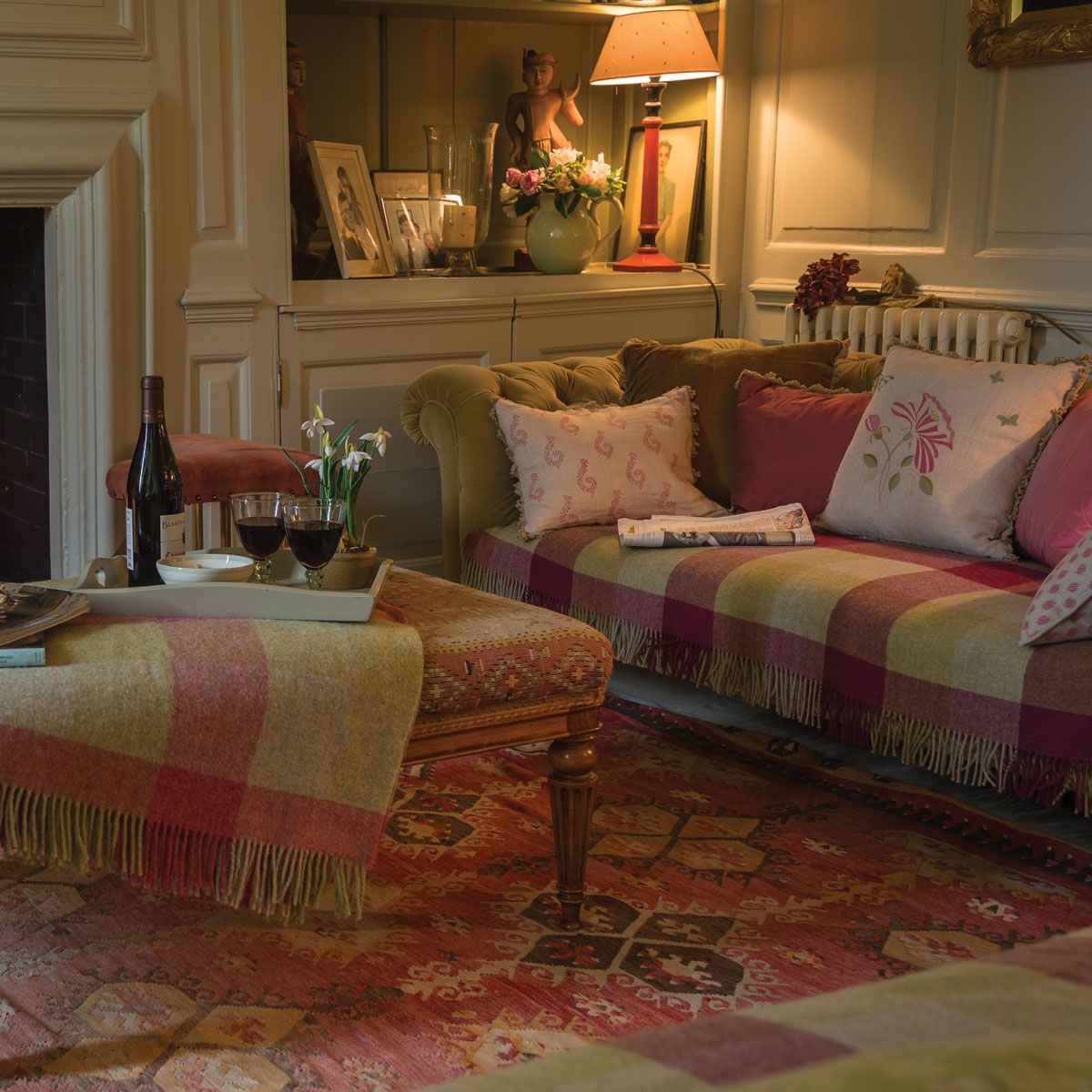 Lovely Fabrics, Colors And Textures Throughout The Room