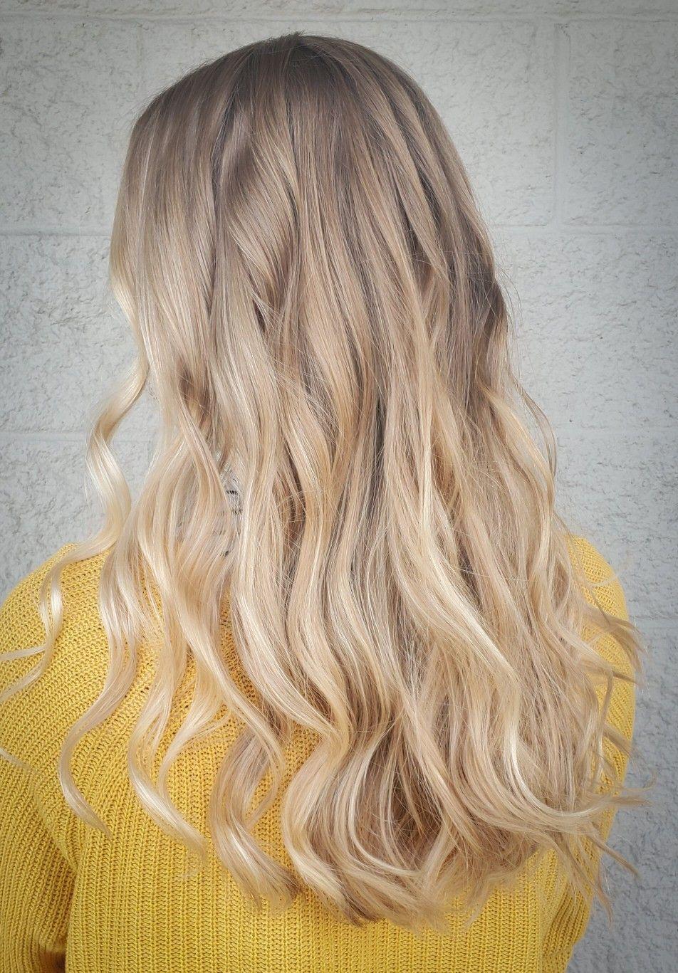 Soft Blended Highlights Ombre Golden Blonde Honey Blonde Yellow Blonde Honey Blonde Golden Blonde