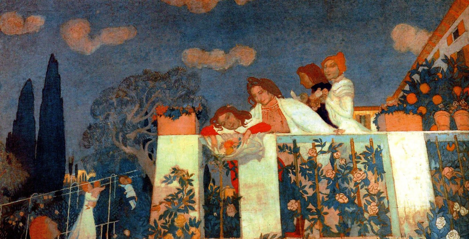 The Athenaeum - The Denis And Chausson Families On The Terrace at Fiesole (Maurice Denis - )
