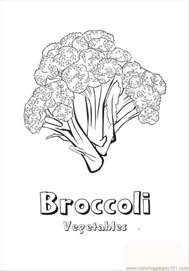 Broccoli Coloring Page Free Printable Coloring Pages Coloring