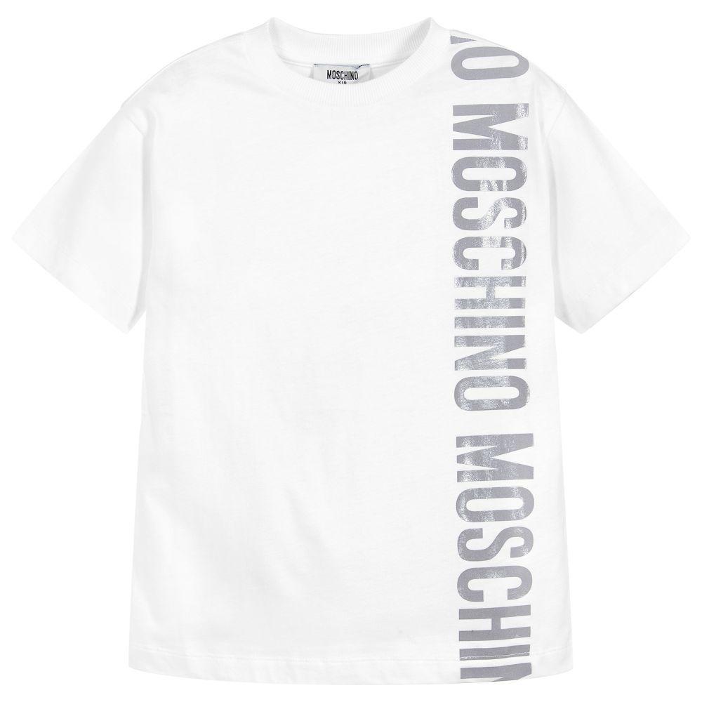 e7483cdb0a7 White cotton T-shirt from Moschino Kid-Teen