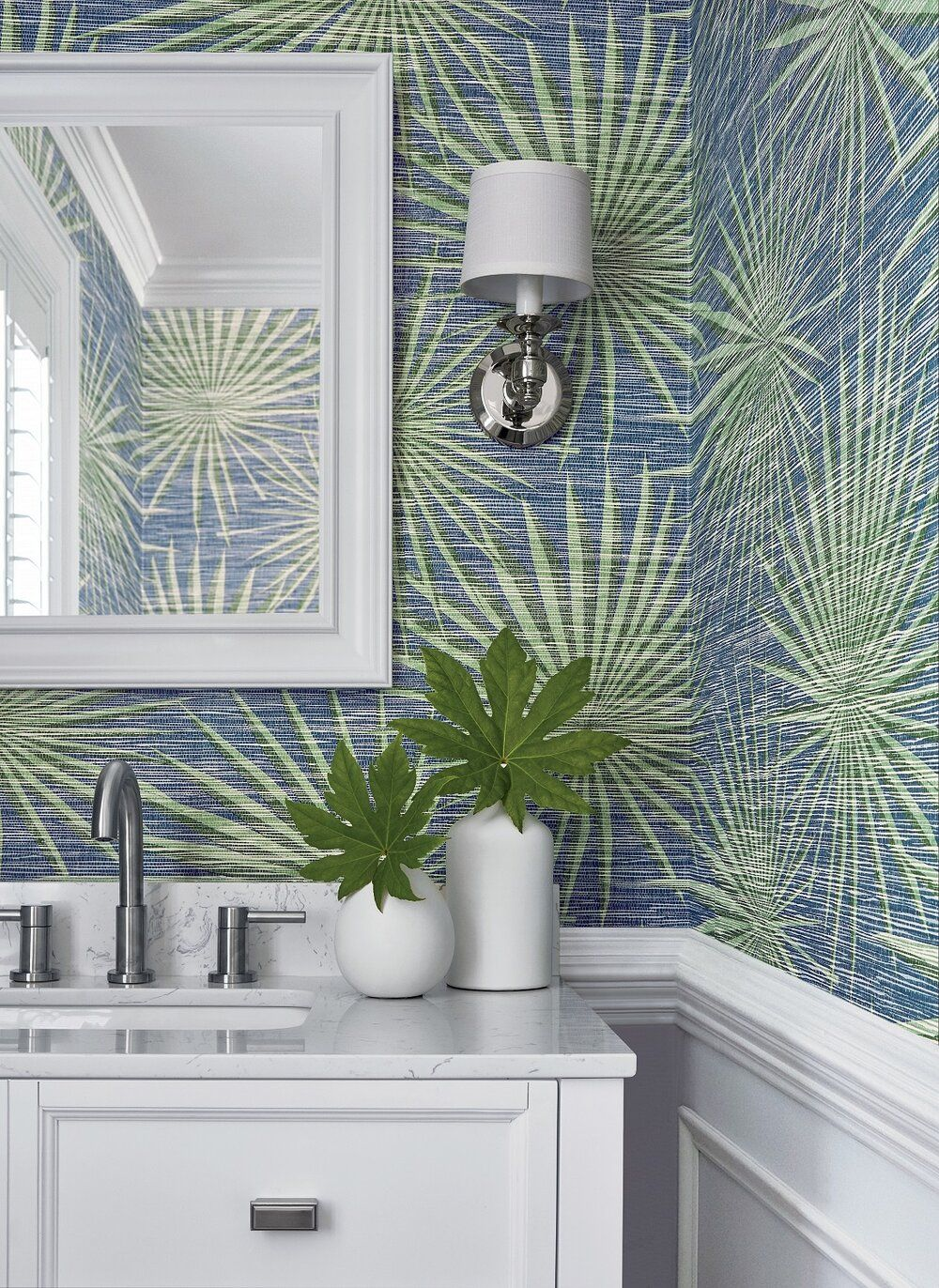 Powder Rooms Are The Ideal Spot For Pattern And Color And