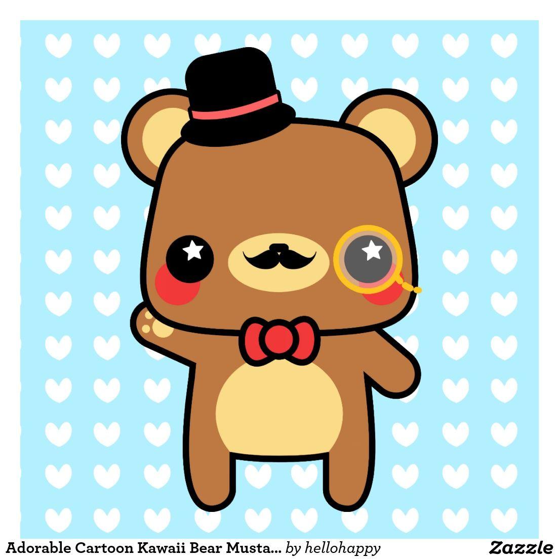 Kawaii Cartoon Bear Art Kawaii Cartoon Bear Paintings Framed Artwork By Kawaii Cartoon Bear Artists Bear Paintings Cute Cartoon Bear Art