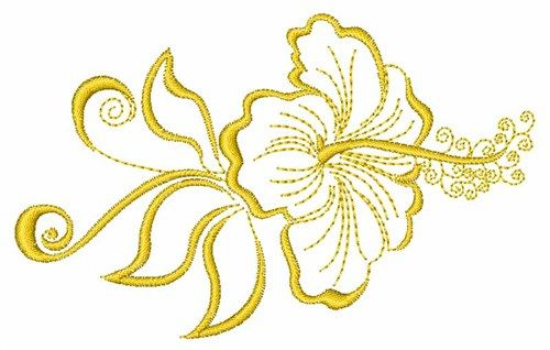 Hibiscus Flower Outline Embroidery Designs Machine Embroidery Designs At Embroiderydesigns Com In 2020 Flower Outline Machine Embroidery Designs Machine Embroidery