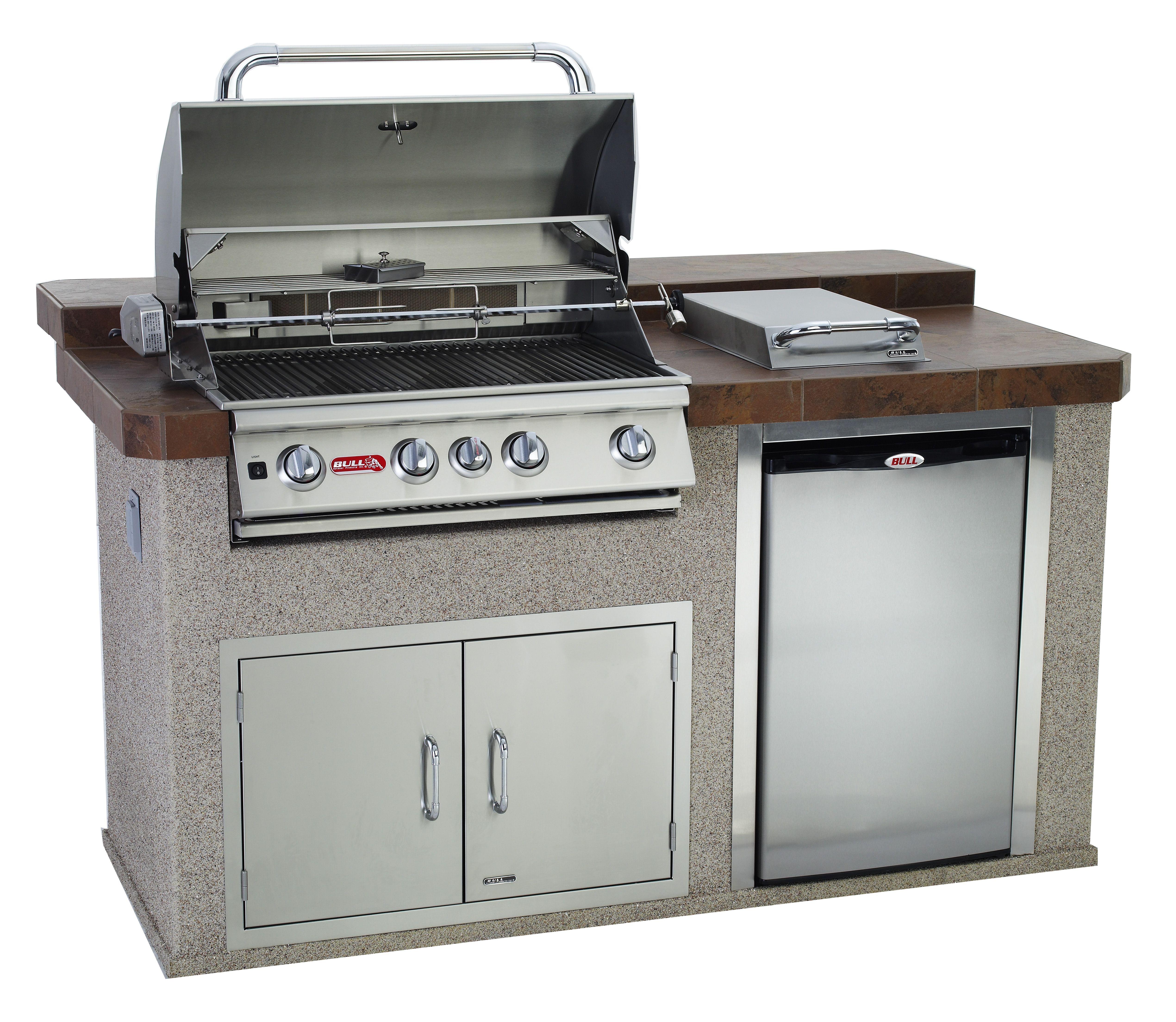 Q Bar And Kitchen: Power Q Outdoor Island Kitchen Raised Back Bar. Standard