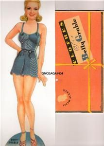 1942 BETTY GRABLE VINTAGE UNCUT (found on ebay)