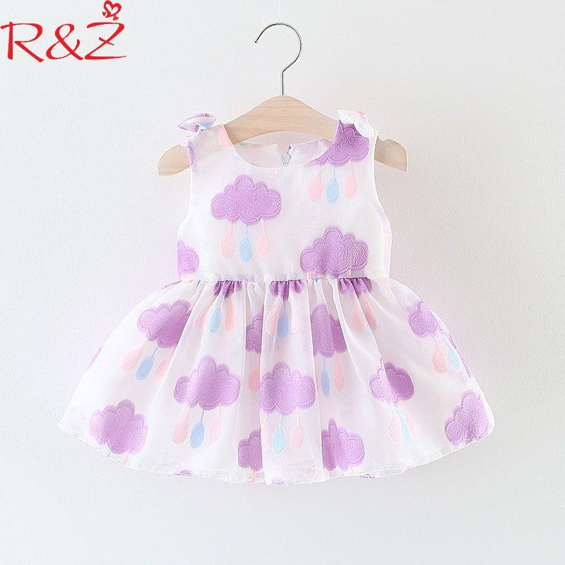 e251d92adda2 R Z Baby Girls Dresses 2018 New Korean Summer Sleeveless Cartoon ...